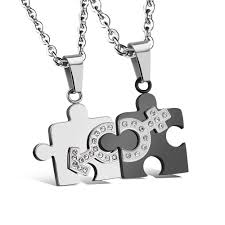 puzzle necklace images Puzzle necklace for couples happiest momma happiestmomma jpg