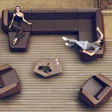 canap module vondom faz sofa chaiselongue matt outdoor design polyethylene ottoman