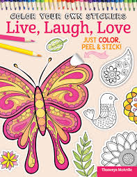 color your own stickers live laugh love fox chapel publishing