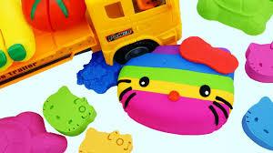 diy kinetic sand rainbow kitty truck cars