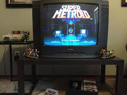 found my old tv and snes decided to set them up in my gaming room