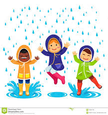 children playing in the rain clipart clipartxtras