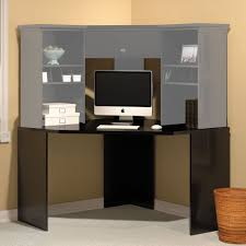 Bush Computer Desk With Hutch by Bush Stockport Corner Computer Desk Black Walmart Com