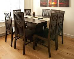 dark wood dining table and chairs uk wooden room sets ebay round