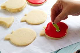 Icing To Decorate Cookies Apple With Worm Cookies The Bearfoot Baker