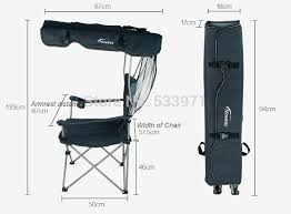outdoor portable folding backpack beach chair with sunshade