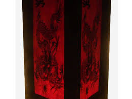 Handmade Table Lamp Paper And Wood Oriental Style Light Discovered