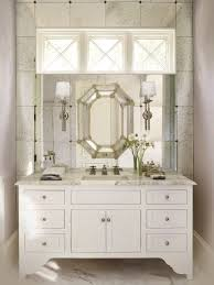 gorgeous decorating ideas using grey quartz countertops and stunning design ideas using round white wall lamps and rectangular white wooden vanity cabinets also with