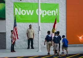 American Flag Walmart Walmart Neighborhood Market Ribbon Cutting