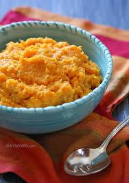 cooker garlic sweet potato mash skinnytaste