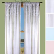 sea glass semi sheer curtain panels