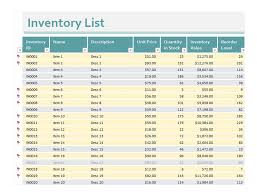 free excel inventory spreadsheet template