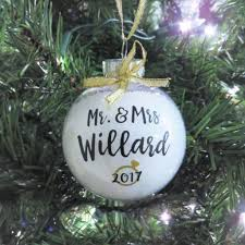 personalized wedding christmas ornament wedding ideas mr mrs personalized ornament just married