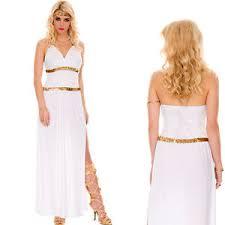 3pc greek goddess roman toga halloween costume long
