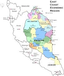 Map Of East Coast States Maps Of Malaysia Clipart