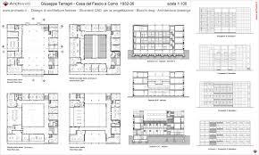 museum floor plan dwg giuseppe terragni casa del fascio drawings architettura