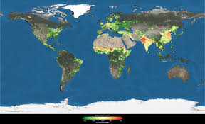 Map Of The Earth Nasa How Hard Are We Pushing The Land