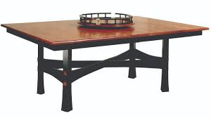amish dining room leg table made in usa