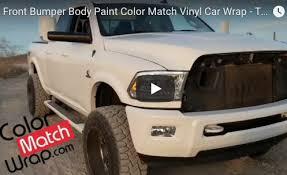 paint match front bumper body paint color match vinyl car wrap trim chrome