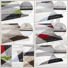 Wohnzimmer Schwarz Grau Rot Designer Wohnzimmer Teppich Geometrisches Muster Meliert Blau Grün