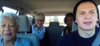 uber driver raps to a car full of confused grandmas