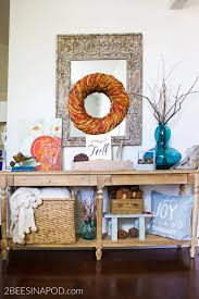 Turquoise Entry Table by Fall Entryway Decor Cottage Style 2 Bees In A Pod