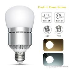 light sensor light bulbs e26 e27 b22 motion sensor light dusk to dawn led lights bulb 12w