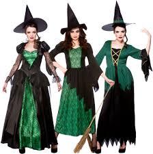 green witches women fancy dress halloween fairytale creepy spooky