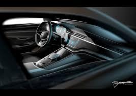 Concept Interior Design Volkswagen C Coupe Gte Concept Interior Design Sketch Render