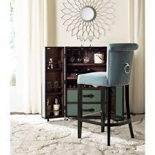 safavieh addo 29 7 in sky blue cushioned bar stool hud8242c the