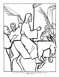 the triumphal entry coloring page coloring home