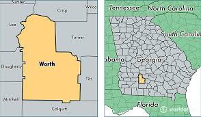 ga map worth county map of worth county ga where is worth
