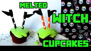 melted witch cupcakes youtube