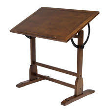 Antique Wooden Drafting Table Vintage Drafting Table Ebay