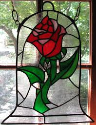 beauty and the beast rose stained glass by autobotwonko on deviantart