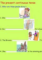 esl english exercises the present continuous tense