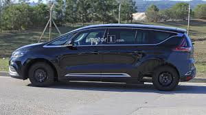 renault minivan f1 stretched renault espace test mule looks like frankenstein u0027s car