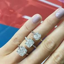 cushion engagement rings elongated cushion solitaire engagement ring ring concierge