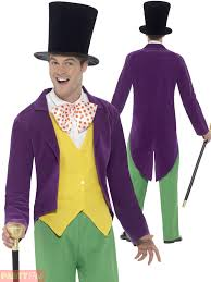 willy wonka halloween costumes mens willy wonka fantastic mr fox costume roald dahl fancy dress