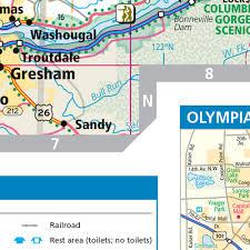 Wa State Map Rand Mcnally Washington State Wall Map