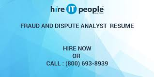 Fraud Analyst Resume Sample by Fraud And Dispute Analyst Resume Hire It People We Get It Done