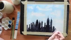 paint the new york skyline in watercolor beginner u0027s tutorial