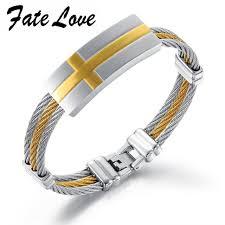 metal rope bracelet images Fate love stainless steel hemp rope bracelets for men fashoin jpg