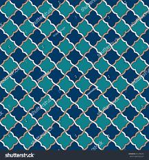 Morrocan Design Seamless Tosca Blue Peach Moroccan Pattern Stock Vector 631498355