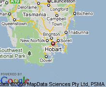 map of tasmania australia map of hobart tasmania hotels accommodation