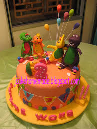 barney birthday cake barney and friends theme birthday cake happy 2nd birthday flickr