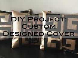 faux leather throw pillows diy custom throw pillow cover youtube