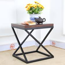 end table with shelves nordic ikea iron retro square wood coffee table small tea table