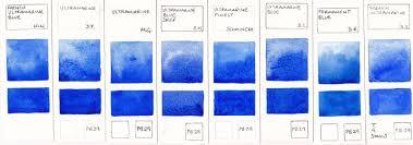 jane blundell artist watercolour comparisons 1 ultramarine blue pb29