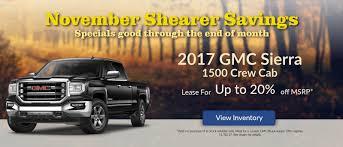 camaro lease specials shearer chevrolet buick gmc cadillac car dealership near